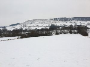 Winter in Fryup Dale and the view across the valley